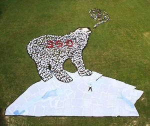ours 350 earth aerial art sensibilisation-prevention.fr